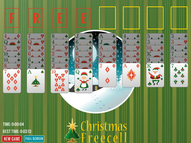 Christmas Freecell, a classic game.