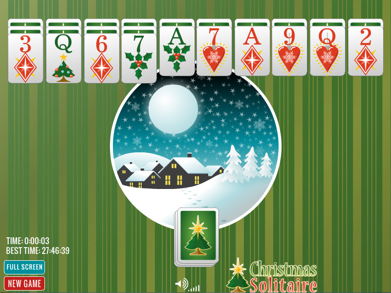 Christmas Spider Solitaire - click for full size