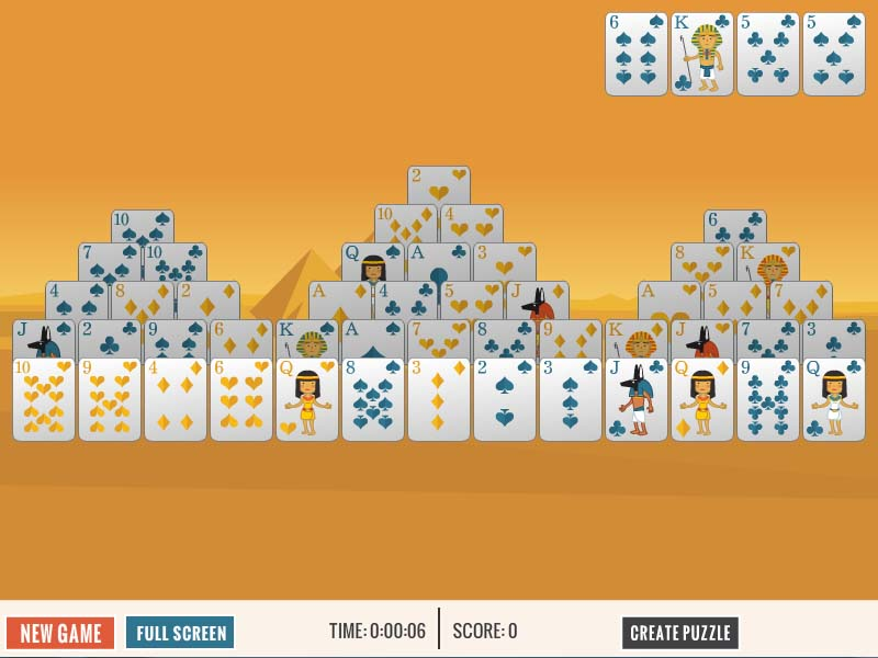 Free Giza Pyramid Solitaire card game.